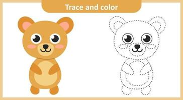 Trace and Color Cute Bear