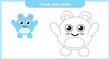 Trace and Color Cute Character