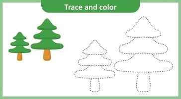 Trace and Color Pine Tree