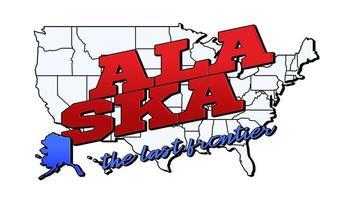 ilustración vectorial con nosotros el estado de alaska en el mapa americano con letras vector