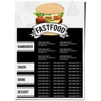 menu food restaurant template design vector