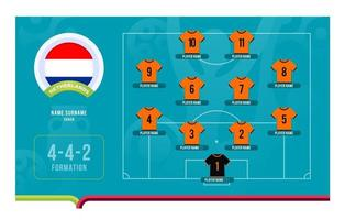 Netherlands line-up Football tournament final stage vector illustration