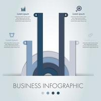 Blue and grey circle business infographic template.
