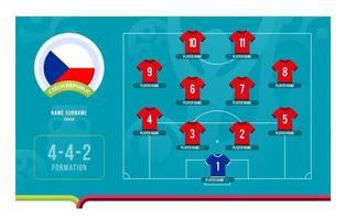 Czech republic line-up Football tournament final stage vector illustration