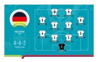 Ilustración de vector de etapa final de torneo de fútbol de alineación de Alemania