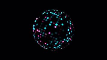 digitale Hi-Tech-Disco-Ball-Animation mit Alphakanal isoliert