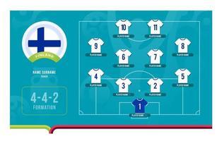 Ilustración de vector de etapa final de torneo de fútbol de alineación de Finlandia