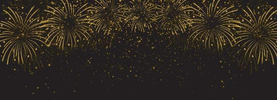 Gold light firework celebration. Vector Illustrator 10