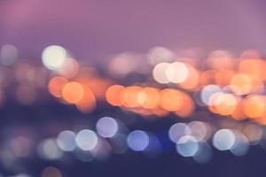 Bokeh city lights photo