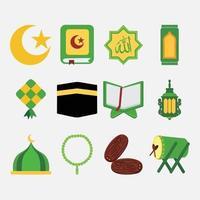 ramadan muslim pack vector illustration icon design set
