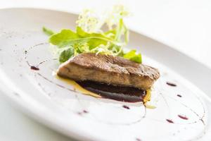 Grilled foie gras photo