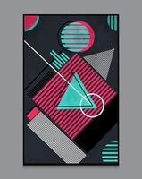 Abstract Geometric Shapes Background Composition, Suitable For Printing As A Painting, Interior Decoration, Social Posts, Flyers , Book Covers Etc vector
