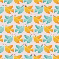 patrón sin fisuras con pájaros de colores. ilustración vectorial. vector