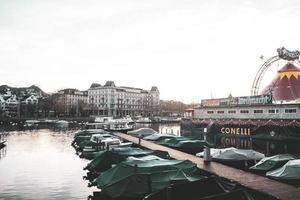 Zurich City, Switzerland 2015- Conelli Circus on the waterfront photo