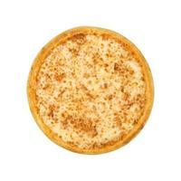 Isolated veggie margherita pizza on white background photo