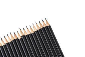 lápices aislados sobre fondo blanco foto