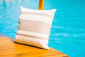 Pillow at the pool photo