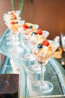 Fruits in glass photo