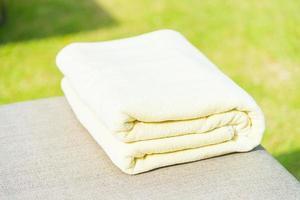 Towel on chair in luxury hotel resort