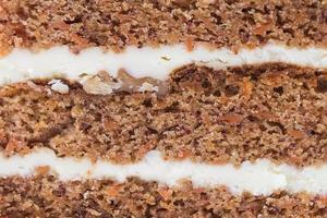fondo de texturas de tortas de zanahoria foto