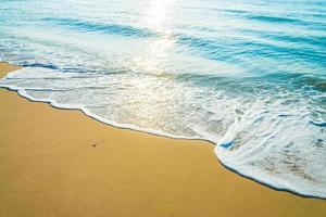 Wave on the beach photo