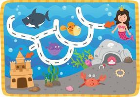 Educational maze game for children Illustration vector