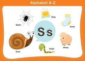Alphabet Letter S vector illustration