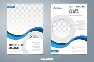 Abstract corporate brochure cover template vector