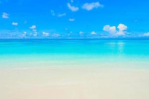Beautiful sea at the beach photo