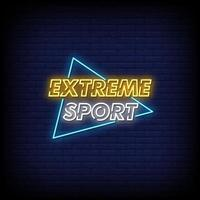 Extreme Sport Neon Signs Style Text Vector