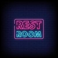 Rest Room Neon Signs Style Text Vector
