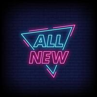 All New Neon Signs Style Text Vector