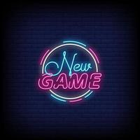 New Game Neon Signs Style Text Vector