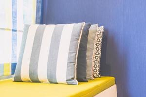 Pillow on sofa bed photo