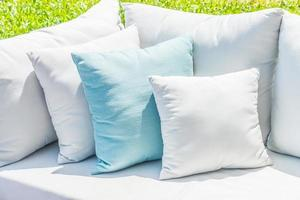 Pillows on sofa bed photo