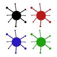 Virus Icon On White Background vector