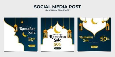 Ramadan sale social media post template vector