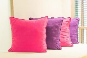 Pillows in bedroom photo