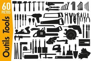 Signage Pictograms on DIY and Decoration Tools vector