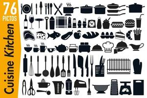 Signage Pictograms on Kitchen Utensils vector