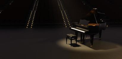 Grand piano in a big theater photo