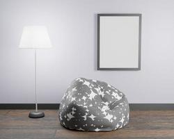 Mockup with an illuminating leather lamp