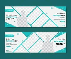Cover templates Digital marketing agency vector