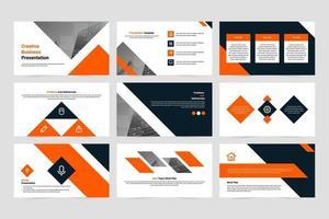 Creative company presentation slide template set