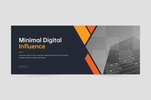 Elegant modern business banner design template