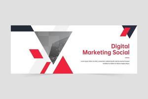 Professional business digital marketing agency banner template