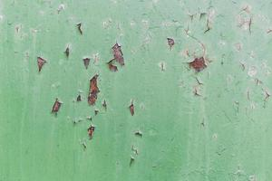 Green exterior wall chipped photo