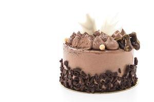 tortas de chocolate aisladas sobre fondo blanco foto