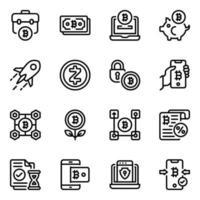 red de monedas virtuales vector