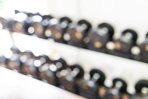Abstract blur fitness gym room interior photo